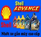 Thay nhớt xe máy Shell