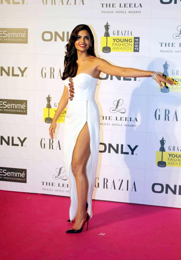 Esha Gupta at Grazia Young Fashion Awards 2014