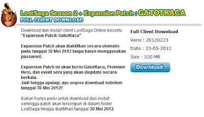 patch hero gatot kaca lost saga indonesia