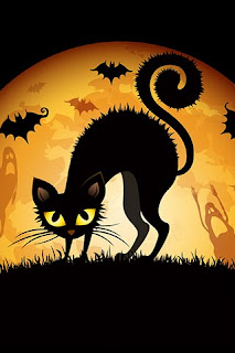 download high quality halloween cat wallpaper
