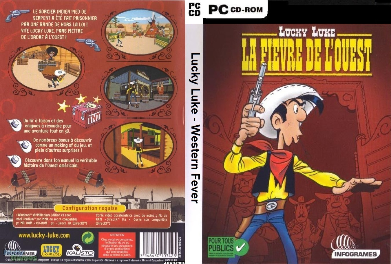Lucky Luke Western Fever PC DVD Capa