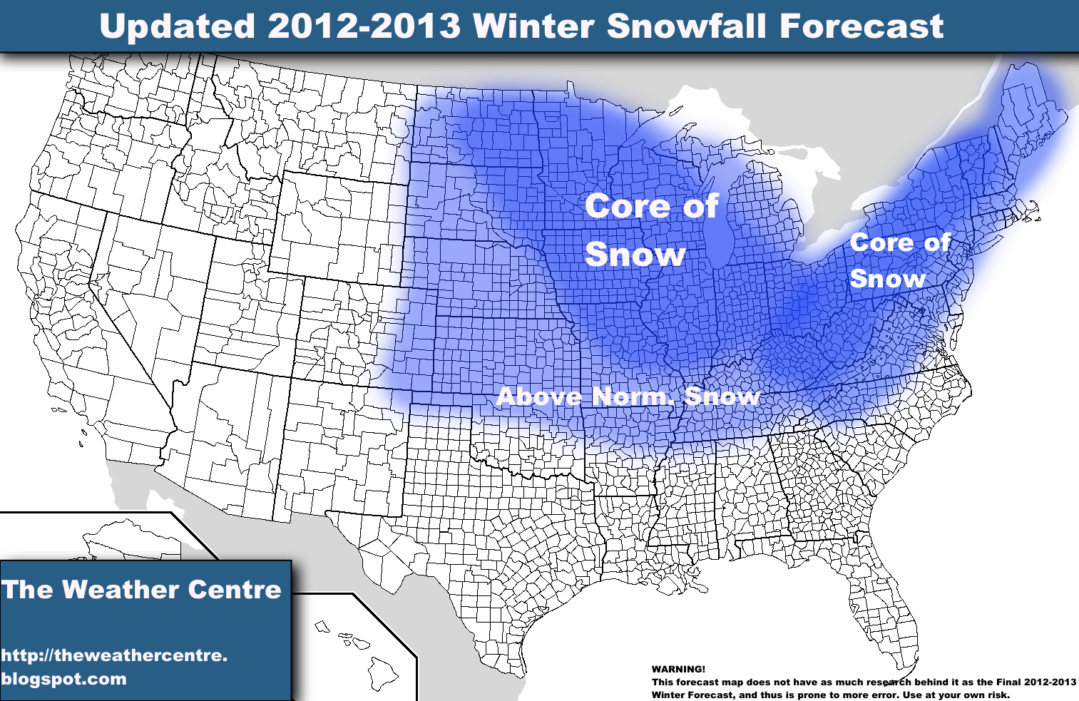 Updated Snowfall Forecast for 2012-2013 Winter