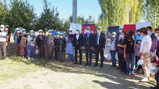 Dünya Çiftçi Kadınlar gününde Bozkır'da Çiftçi kadınlara ziyaret.