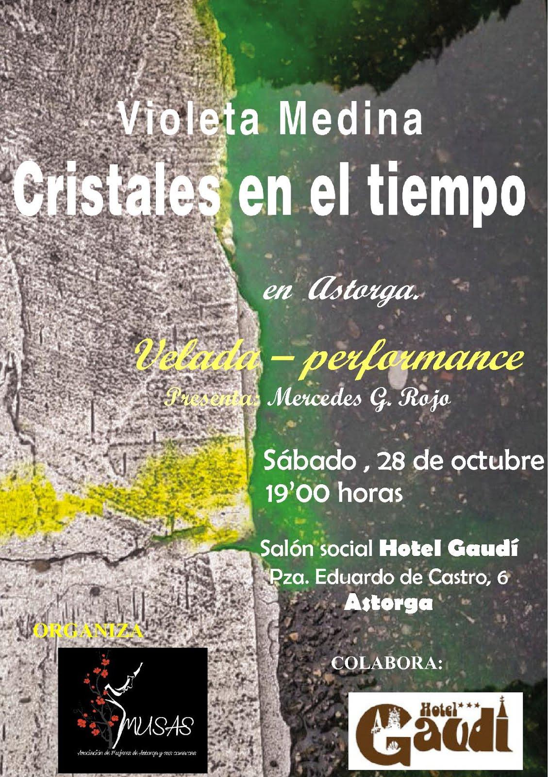 Presentación de Violeta Medina en Astorga. 28 de octubre
