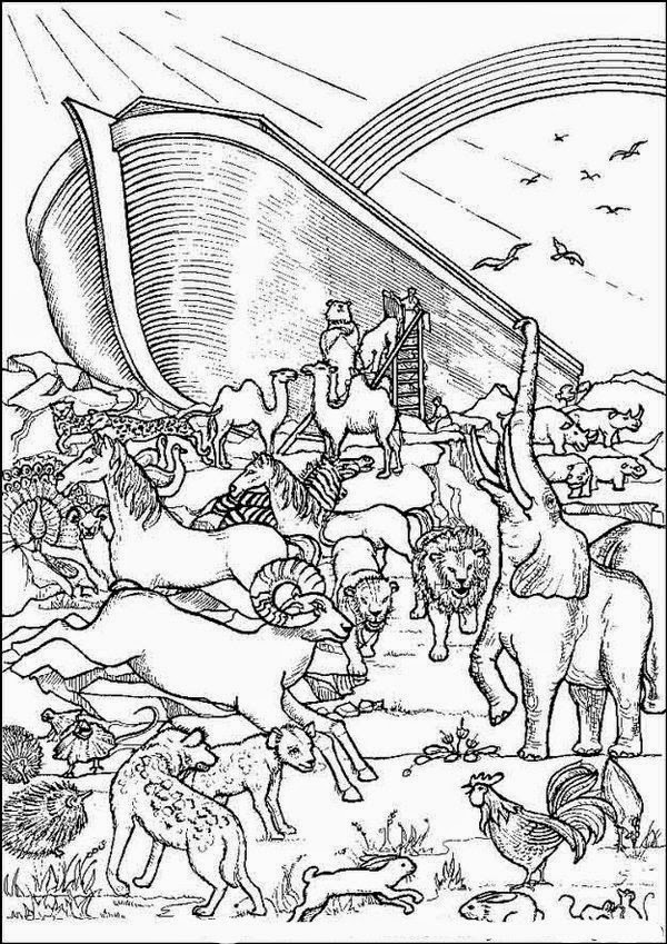 Dramatic image inside noah's ark printable coloring pages