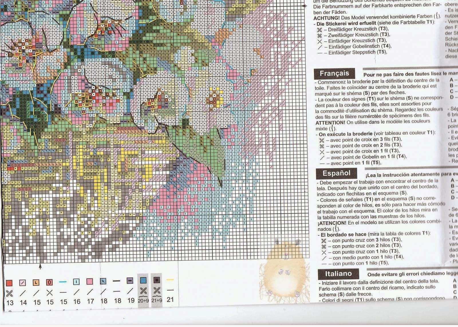 схема для вышивания крестиком жасмин