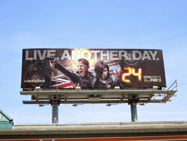 24 Live Another Day TV billboard