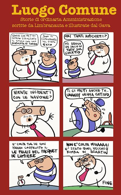 gava gavavenezia orsoni costa venezia navi porto grandi pd satira storia vignette illustrazione