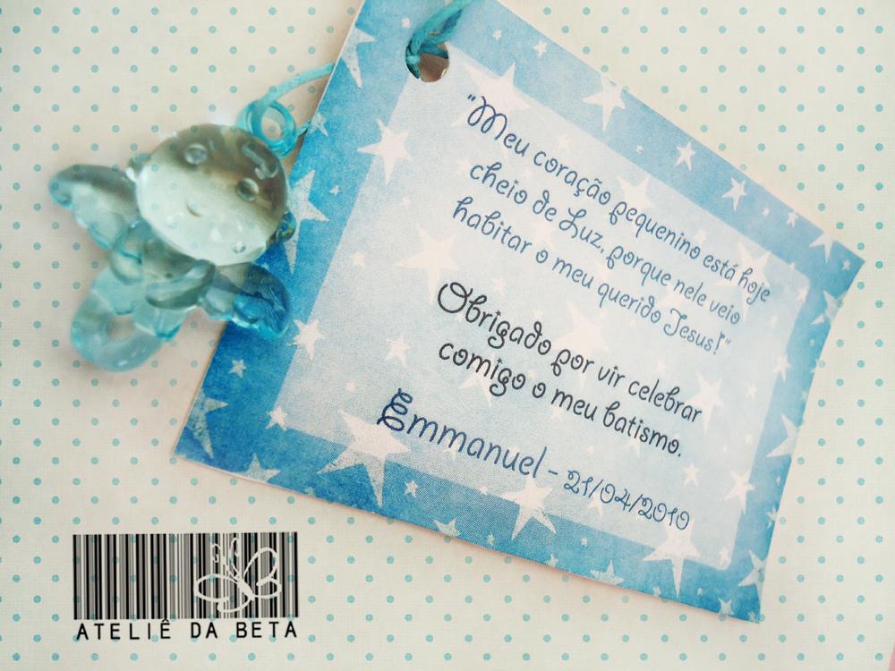Cod Le1 002   Lembrancinha De Batismo Anjinho   Cart  Ozinho De