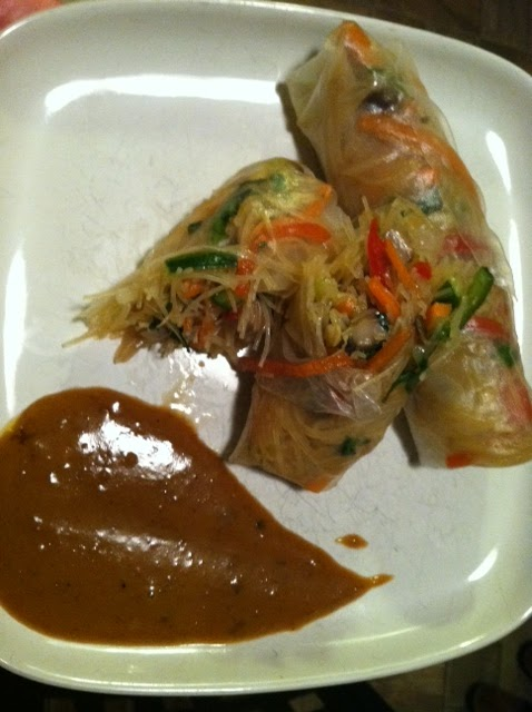 The Beekeeper's Wife: Vegetable Spring Rolls with Spicy ...