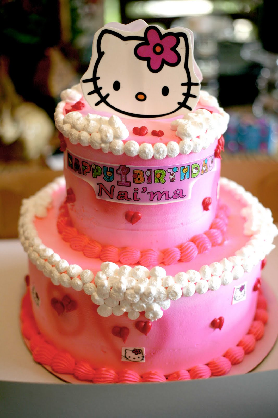 Hectors Custom Cakes Hello Kitty 2 Tier Cake