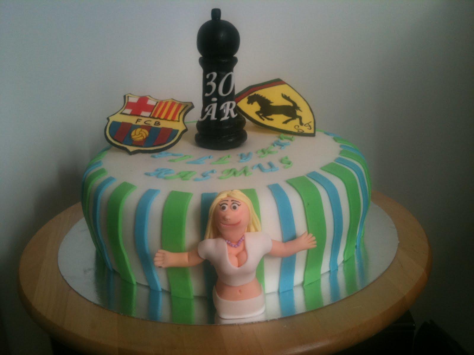 kage til 30 års fødselsdag