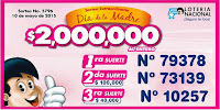 resultados loteria nacional dia de las madres 2015