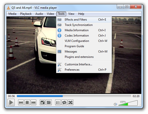 Adjust Video Settings In VLC Player