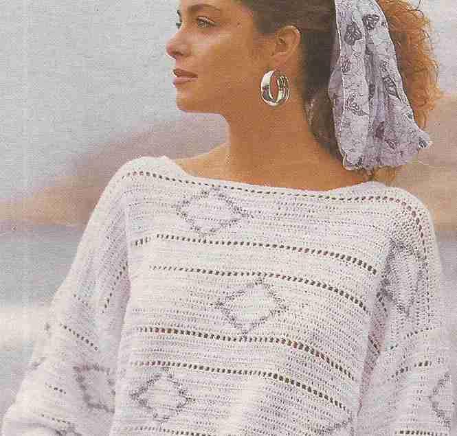 Jersey con rombos a Crochet