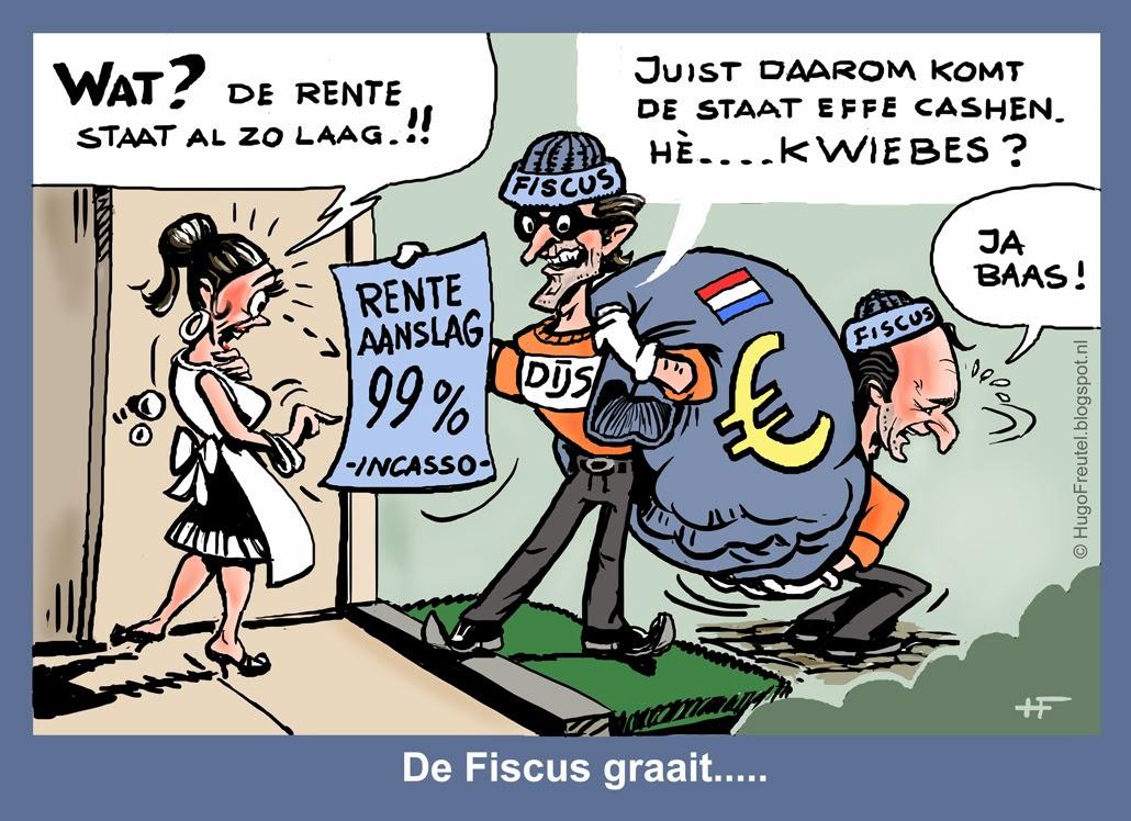 Politieke Prenten De Fiscus Graait Met Dijsselbloem En