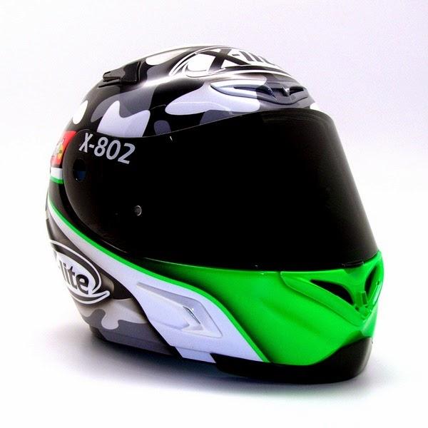 racing helmets garage x lite x 802r d salom 2014 by shock. Black Bedroom Furniture Sets. Home Design Ideas