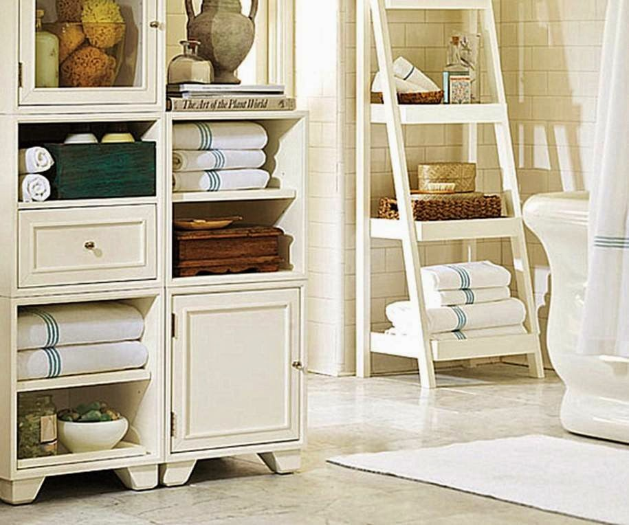 Bathroom storage ideas storage ideas for towel soap for Bathroom towel storage
