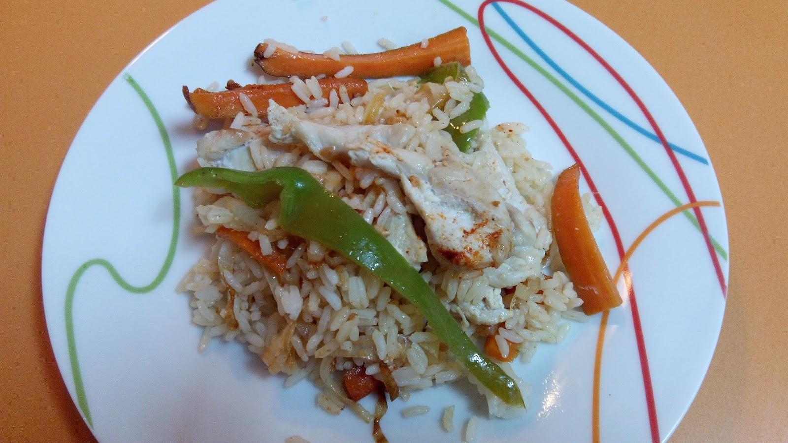 La cocina f cil de silvia salteado de arroz con pollo - Arroz salteado con pollo ...