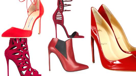 modelos de sapato vermelho