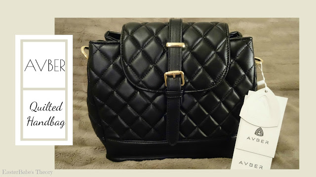 AVBER Black Quilted Shoulder Handbag and Crossbody Purse