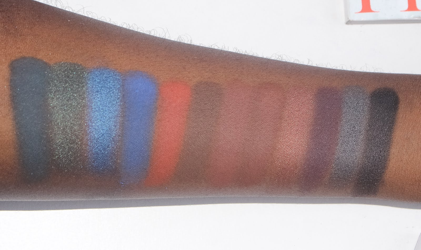 Makeup Geek Peacock, Envy, Neptune, Morocco, Corrupt, Cocoa Bear, Mocha. Mac Swiss Chocolate. Morphe Burlesque, Sapphire, Blackberry