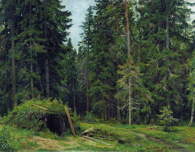 The Flying Clubhouse: Shishkin's Forest // Forest Hut, 1892