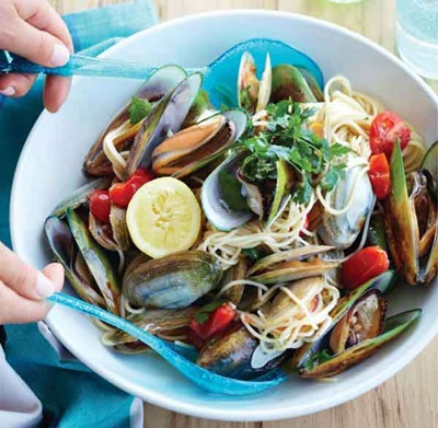 Speedy Shellfish Spaghetti