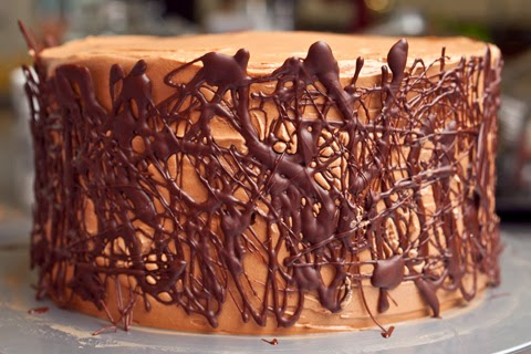 Chocolate Cake with Whipped Fudge Filling & Chocolate Buttercream ...