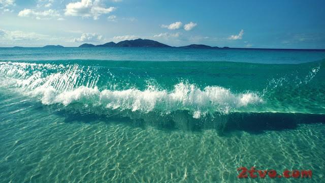 hình nền máy tính biển ngọn sóng ngoài khơi