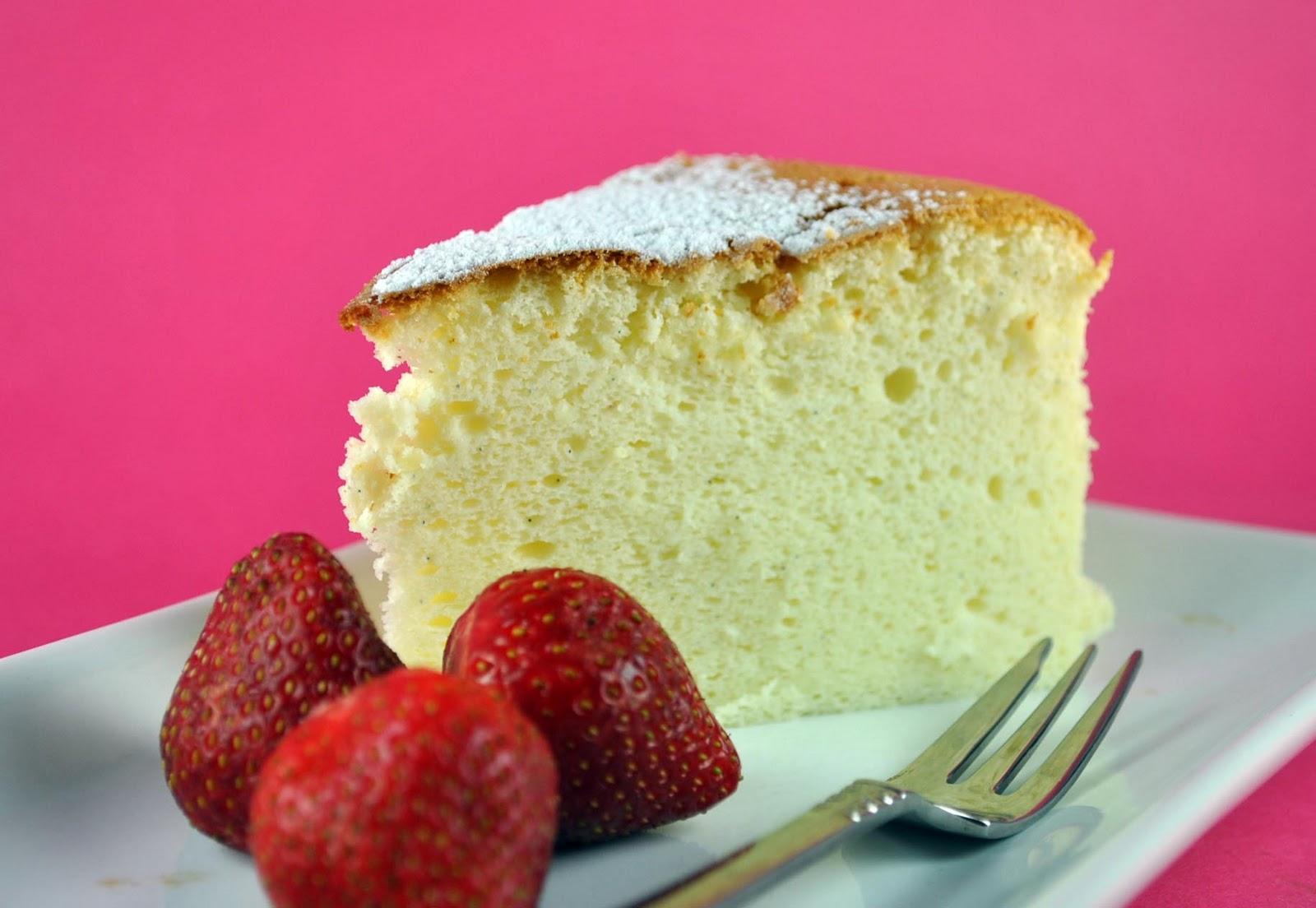 Cottony Soft Three Vanilla Japanese Cheesecake - Bake Happy