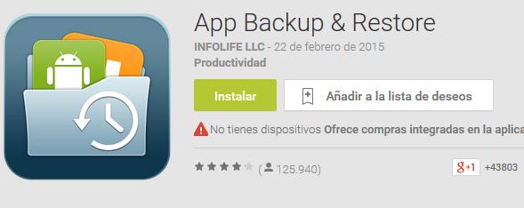 Aplicaciones gratis – Aplicación para crear copias de seguridad de aplicaciones para Android