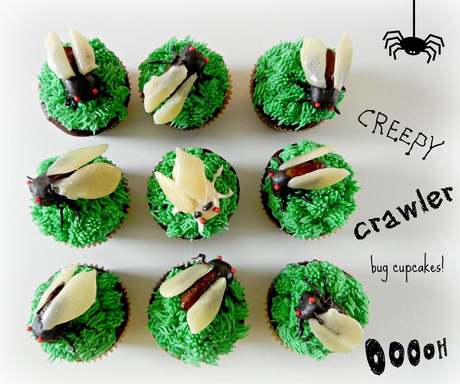 Sugar Swings Serve Some Cicada Bug Cupcakes - Bug cupcake decorating ideas