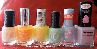 Rainbow polish orly essence bys