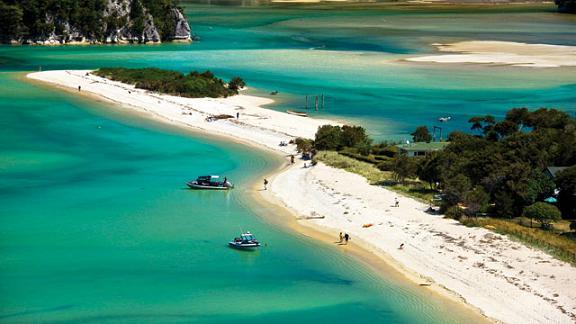 Parque Nacional de Abel Tasman en Nueva Zelanda
