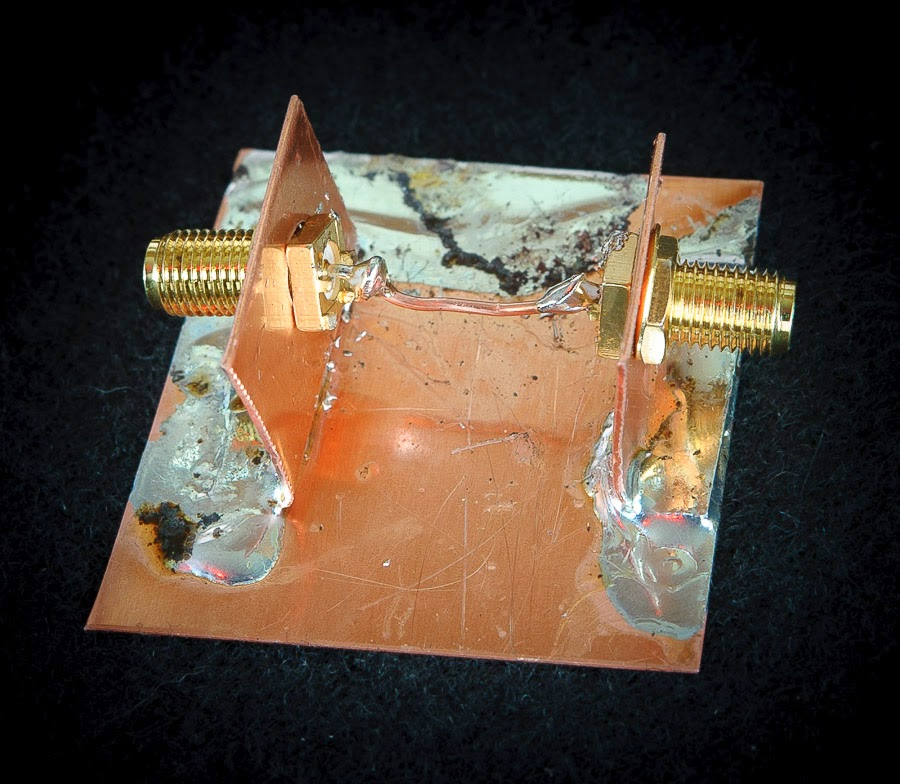 A solid copper ground plane eliminates any unwanted effects of FR4 board.