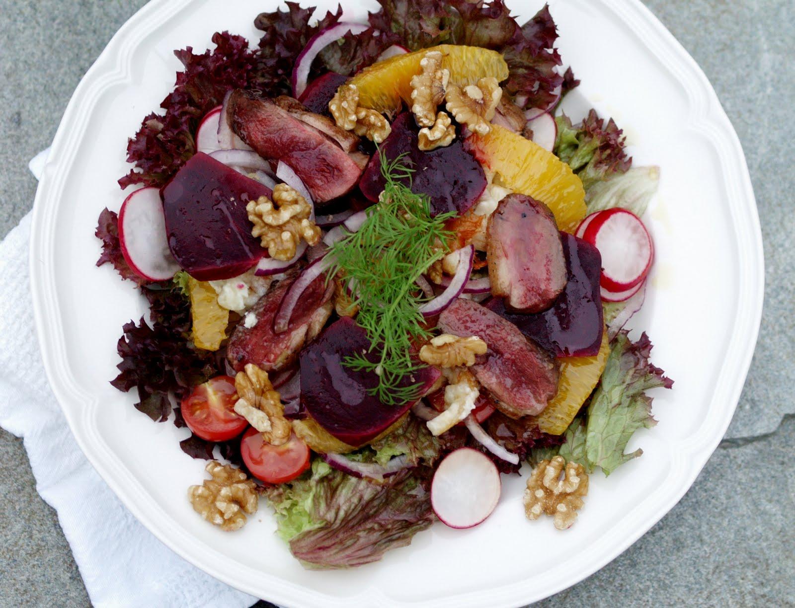 Salat andebryst oppskrift