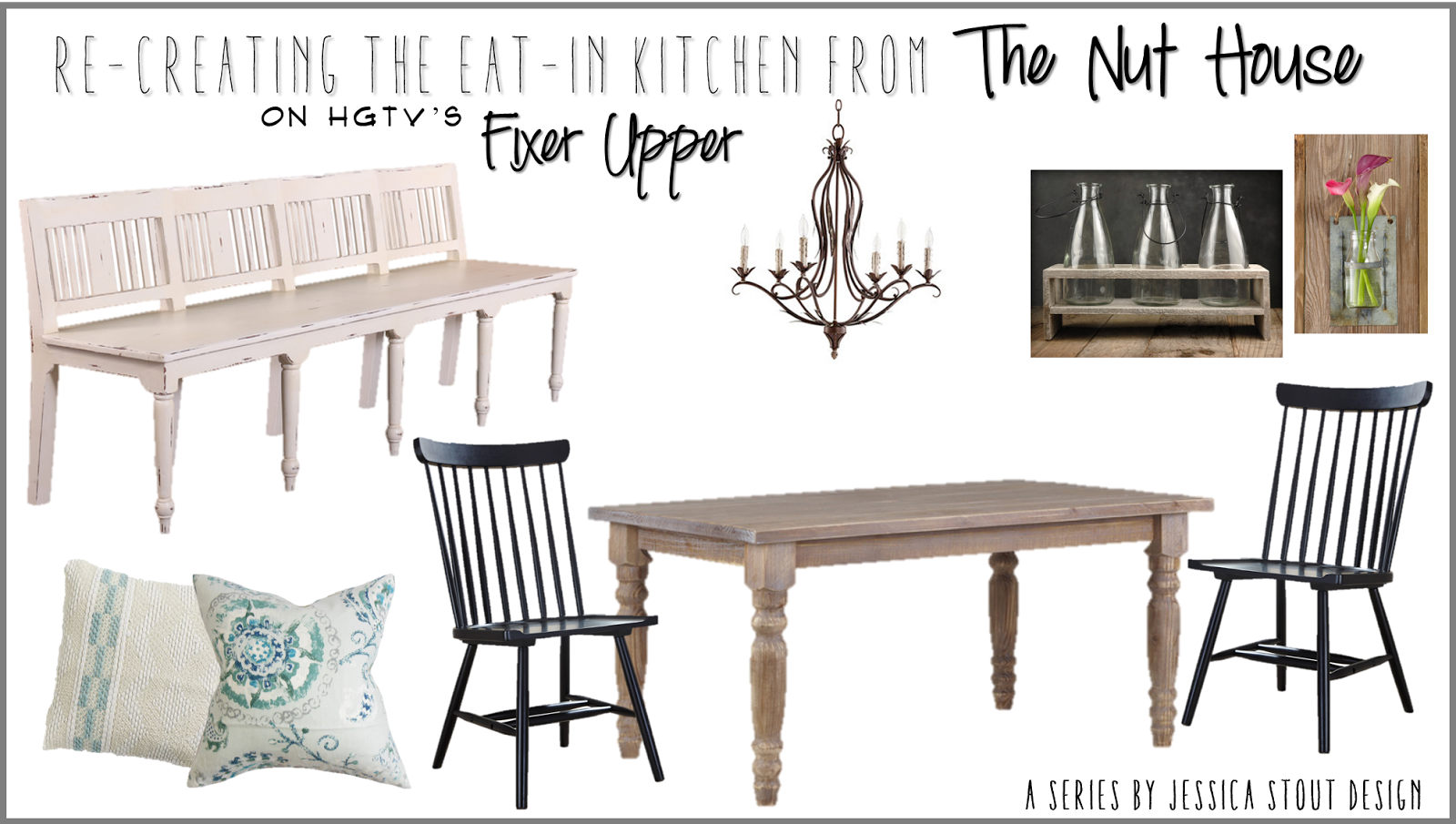 Fixer upper eat in kitchen - I Loved This Eat In Kitchen Area Just On The Other Side Of The Island Here Are Some Tips And Ideas To Create The Same Look In Your Home