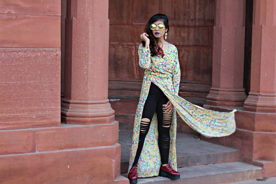 long slit tops missamore,Indian  designer wear