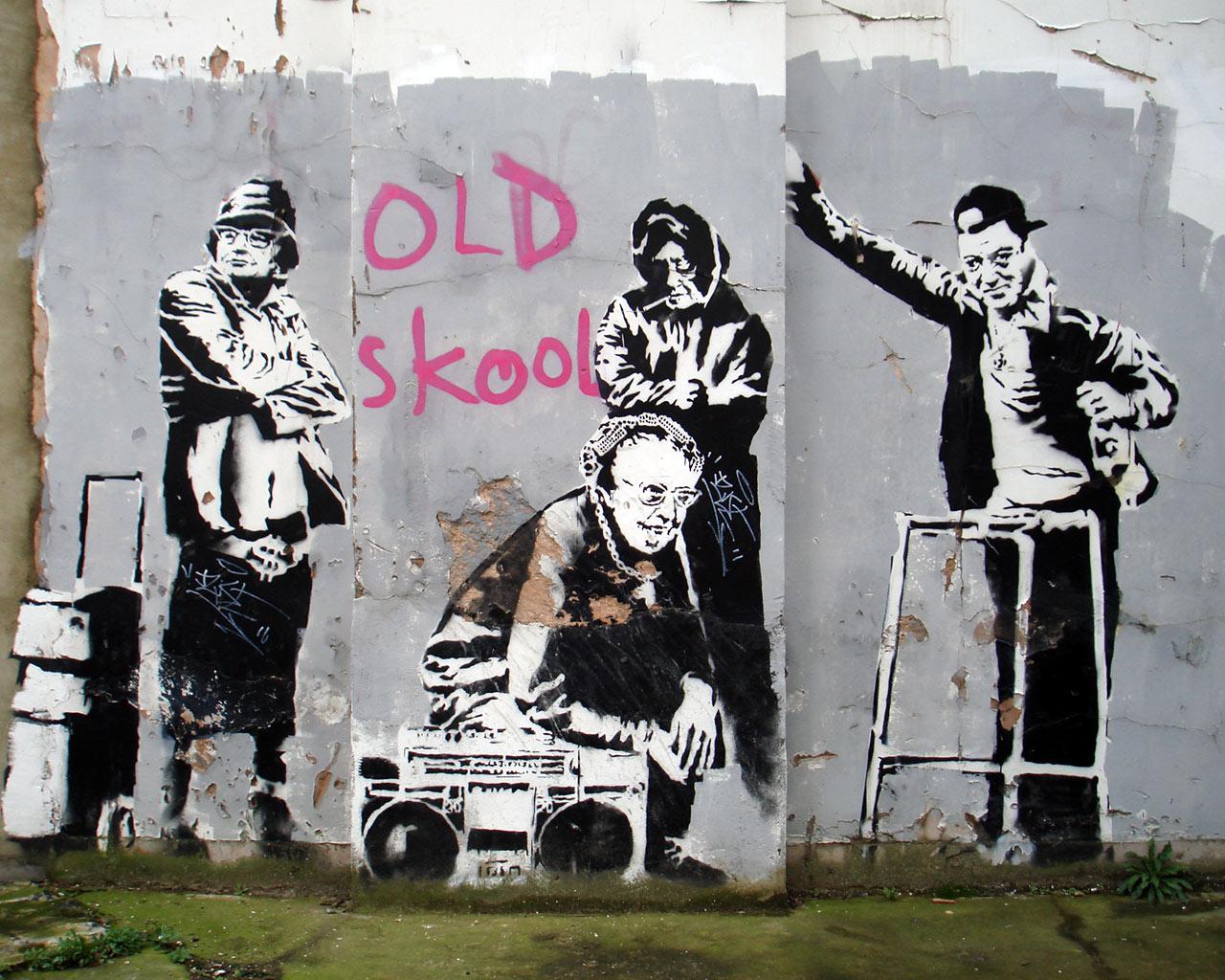 Banksy stencil style patch