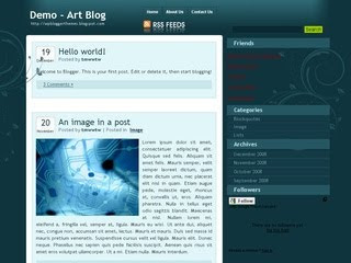 Art Blog Blogger Template