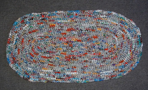 Freebies For Crafters Rug Made By Recycling Plastic Bags