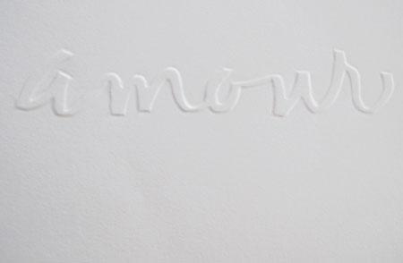 Amour gaufrage de lettres Nathalie Le Reste