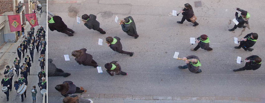 Fotografies de la Banda Municipal d'Esparreguera, que obra el cercavila de la Festa dels 3 tombs a Esparreguera. Fotografia ©Imma Mestre Cunillera