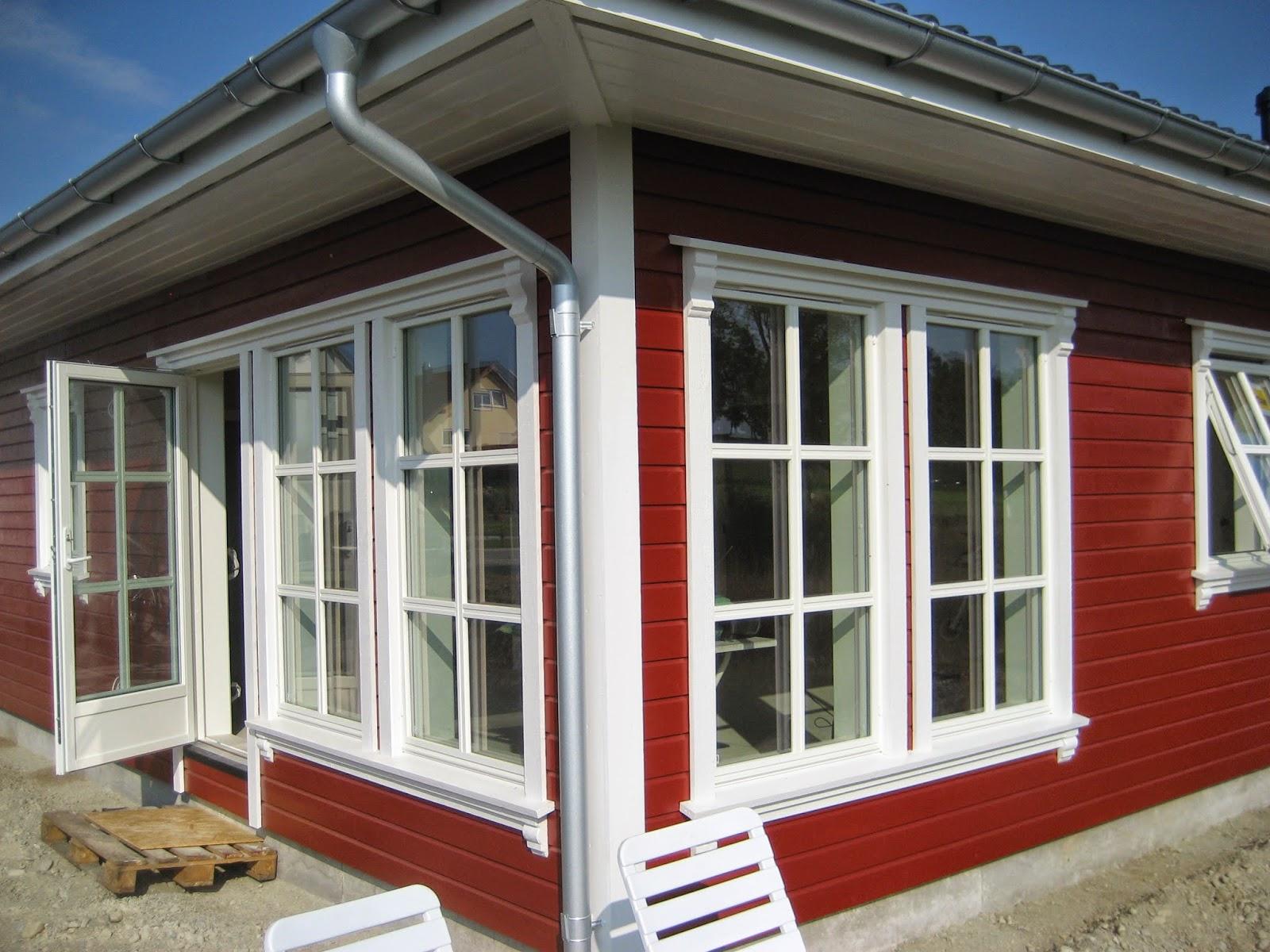 Unser norwegisches holzhaus anstrich 2 for Skandinavisches haus bauen