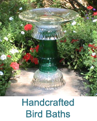 Handcrafted Bird Baths & Feeders