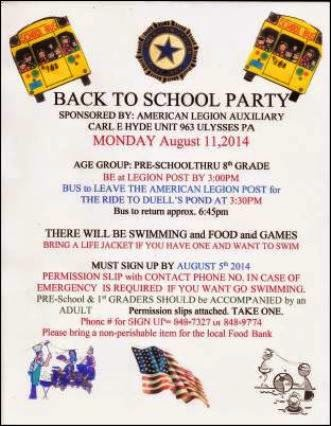 8-11 Back To School Party