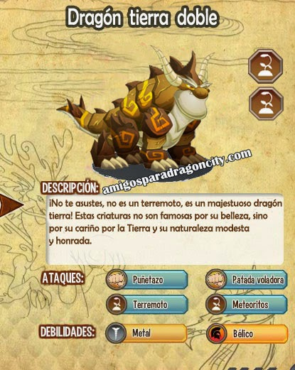 imagen de las caracteristicas del dragon tierra doble
