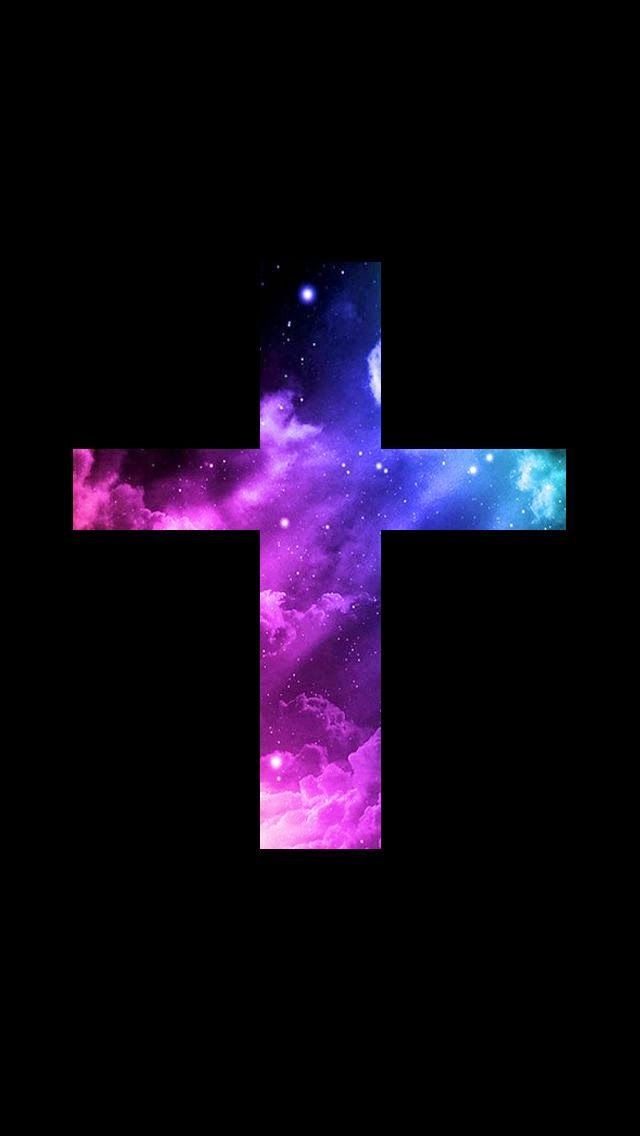 Lovedandsign For Phone Jesus Cross Galaxy Wallpaper