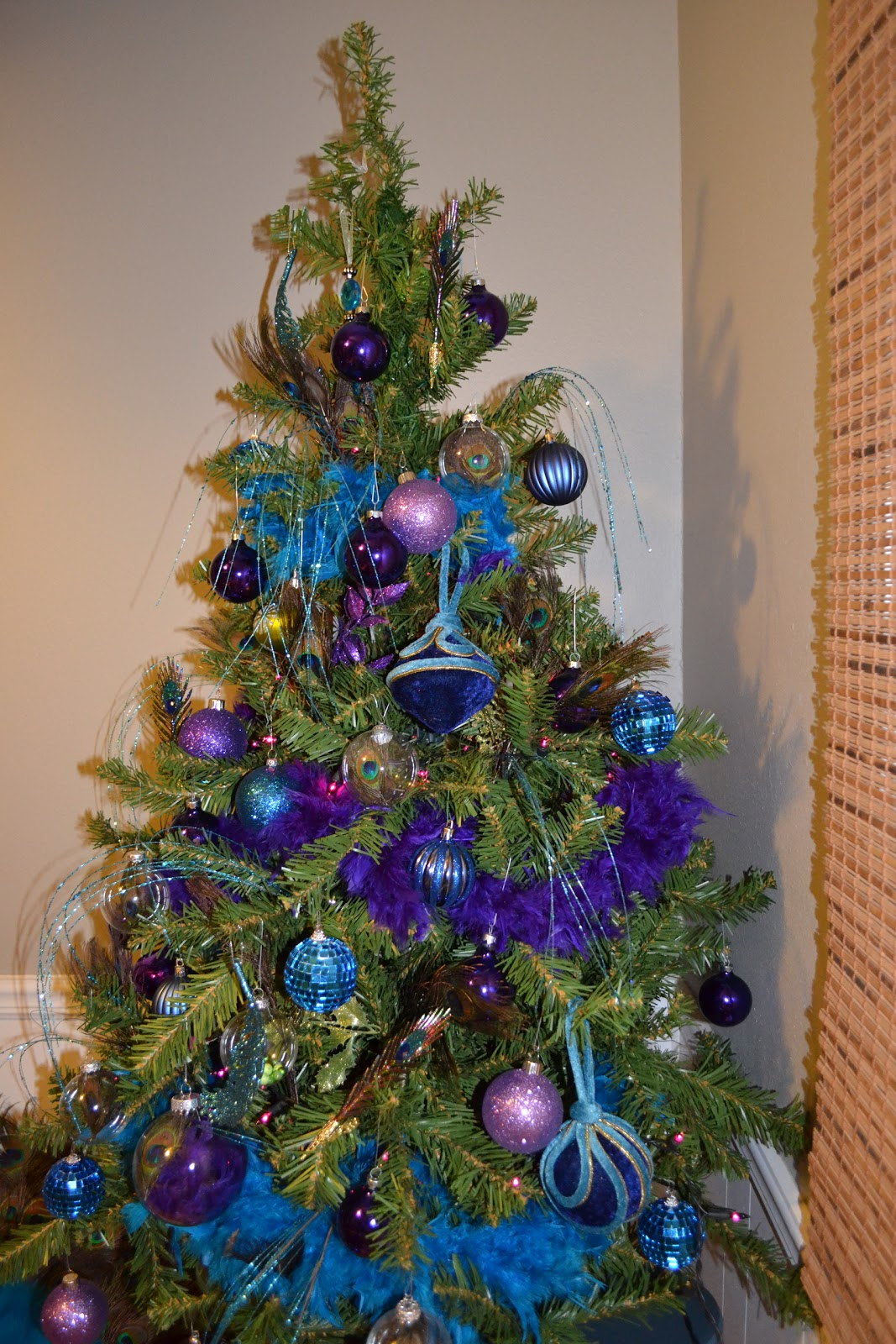 Blue and purple christmas tree decorations - It S A Little Sparse Right Now But It Will Improve